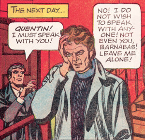 A 1970 Quentin panel from Gold Key's Dark Shadows comic book. Art: Joe Certa. [© Dan Curtis Productions]