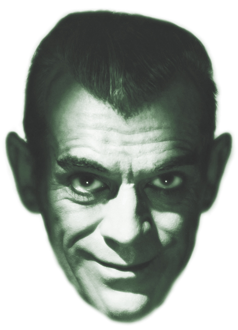 Boris Karloff's look, courtesy of makeup artist Jack P. Pierce, was feline.