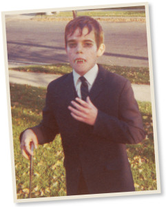 Mark Voger as Barnabas Collins on Halloween 1968, when Voger was 10.
