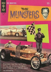 The Munsters No. 6, a 1965 edition, featured the Drag-u-la. [© Kayro-Vue Productions and ™ Universal Studios]