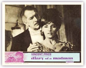 """Diary of a Madman"" starring Vincent Price and Nancy Kovack was the first movie ever aired by Dr. Shock."