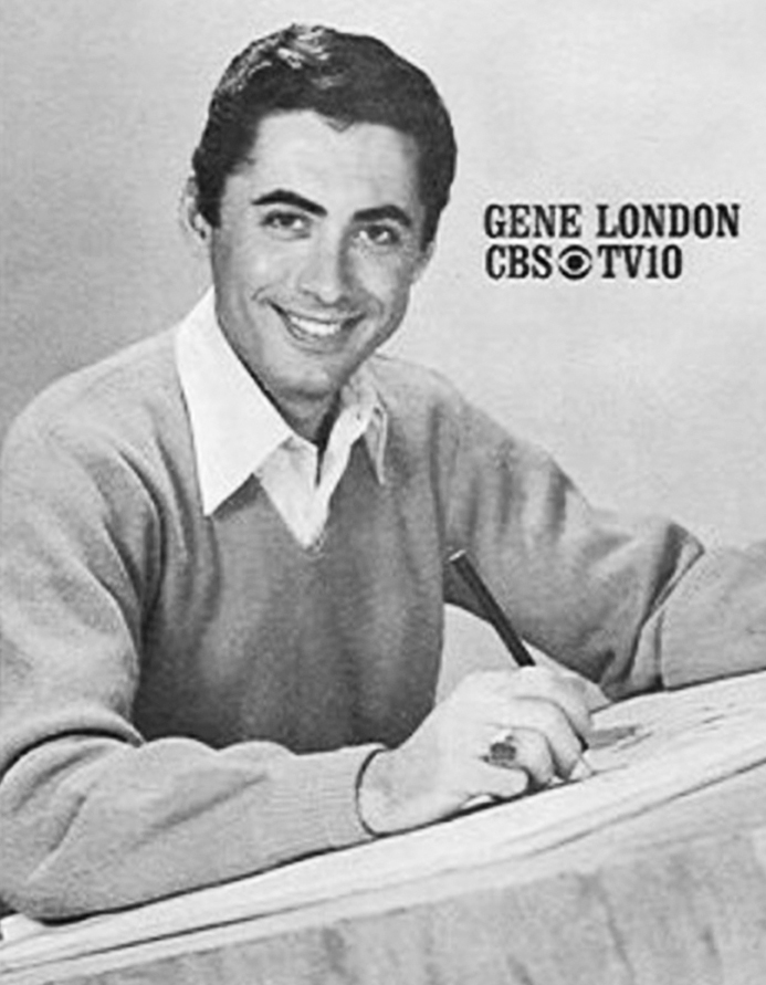 Philly TV kiddie-show host Gene London drew on-camera as he told stories.