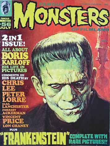 "The first issue of Famous Monsters published after Karloff's death, #56 (July '69), included a filmography in which Karloff's Mexican movies are listed as ""to be released."""