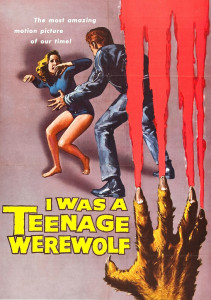 """I Was a Teenage Werewolf"" has what is possibly the first meeting of monsters and rock, with its song ""Eeny Meeny."""