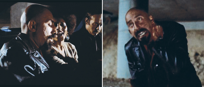 Left: With her murder at Omar's hands imminent, Coffy suggests going out with a bang. Right: Omar gets some, all right ... some justice.
