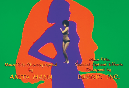 The multicolored silhouettes and images of Pam Grier dancing in the opening titles (courtesy of Imagic Inc. and choreographer Anita Mann) were reminiscent of James Bond movies.