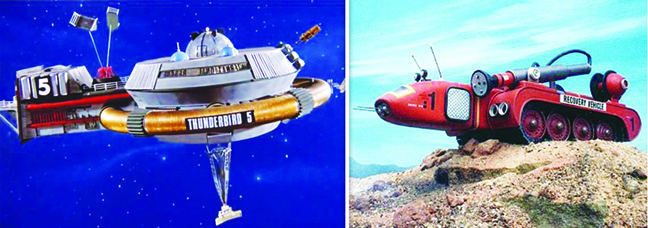 "The many monolithic vehicles of ""Thunderbirds"" will delight 8-year-olds of all ages."