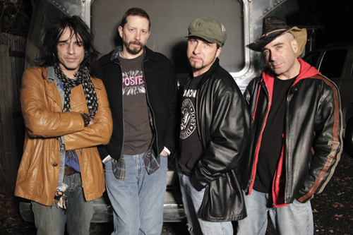 """Electric Ballroom"" host Keith Roth, left, with his band Frankenstein 3000. From left: Roth, Clint Gascoyne, Tommy Tafaro and Eric Hoagland."