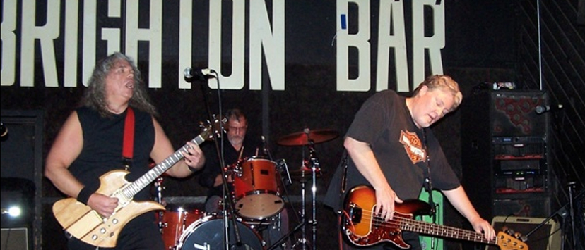 The Voger brothers, Mark and Brian, play the Brighton Bar in Long Branch. At center is drummer JohnYoung.