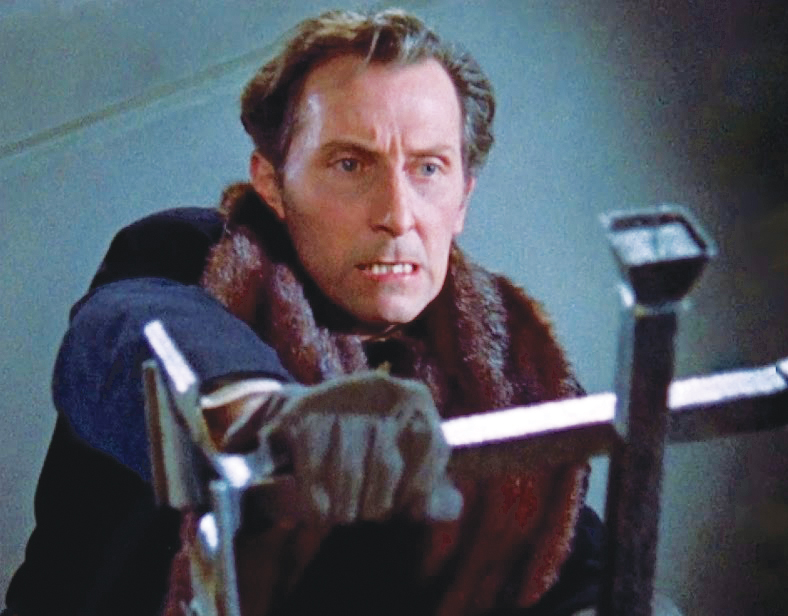 Peter Cushing whips out his crucifix.