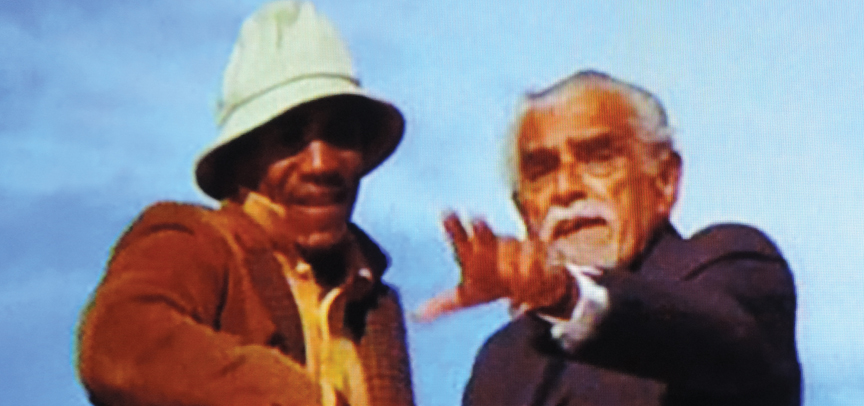"Bill Cosby and Boris Karloff in ""I Spy."""