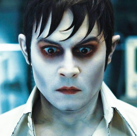 "Johnny Depp added extra strands to his Barnabas hairstyle in ""Dark Shadows"" (2012)."