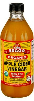 I swear by Bragg Organic Raw Unfiltered Apple Cider Vinegar With the Mother.