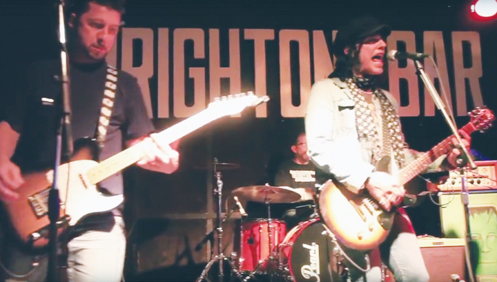The real Roth with Frankenstein 3000 guitarist Tommy Tafaro at the Brighton.