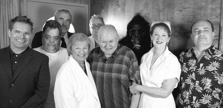 """Monsterkyd Manor"" cast members, including Bob Burns (center) and Linda Wylie (in nurse costume, of course)."
