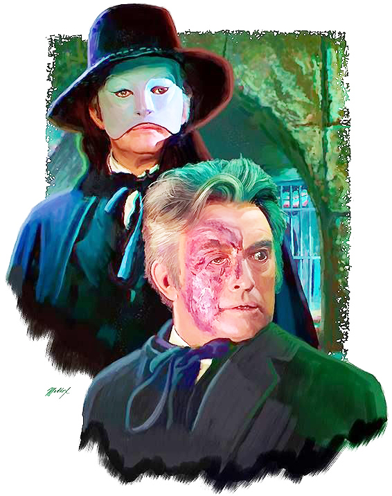 Claude Rains as the Phantom, as depicted by Mark Maddox.